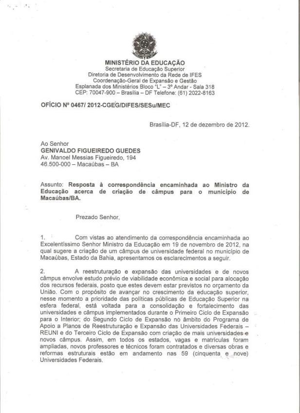 O Ministério da Educação responde à solicitação feita por Guedes. | Imagem: Reprodução